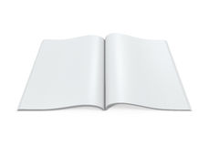 Blank Open Magazine. On white background. 3D render royalty free illustration