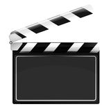 Blank open movie flap object  isolated Royalty Free Stock Photo