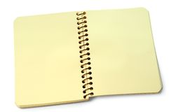 Blank open notebook Stock Images