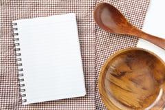 Blank open notebook Stock Photos