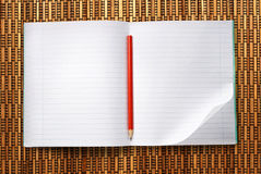 Blank open notebook Stock Photography
