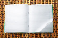 Blank open notebook Royalty Free Stock Photos