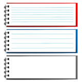 Blank open notebook Stock Photo