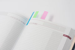 Blank open notepad Stock Photo