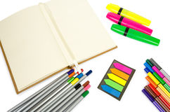 Blank open Notepad for making notes or sketches. Royalty Free Stock Image