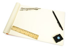 Blank open Notepad for making notes or sketches. Stock Images