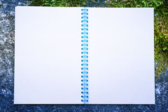 Blank open notepad Royalty Free Stock Image