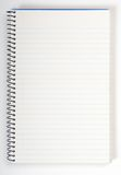 Blank open notepad. A notebook with blank lined paper Stock Photography