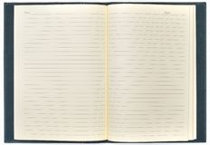 Blank open notepad. Ready for writing royalty free stock images