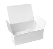 Blank open paper box. Blank open white paper box Royalty Free Stock Photos