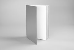 Blank open standing book Stock Photo