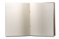 Blank Open Two Page Note Book Stock Photo