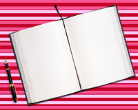 Blank opened book Royalty Free Stock Photo
