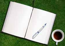 Blank opened book Stock Images