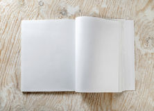 Blank opened book Stock Image