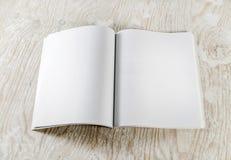 Blank opened book Stock Photo