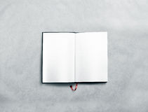 Blank opened book spread mock up with white pages Stock Photography