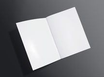 Blank opened brochure on dark background Stock Photo