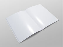 Blank opened brochure on grey background Stock Image