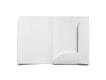 Blank opened folder isolated on white Royalty Free Stock Photo