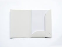 Blank opened folder  on white Royalty Free Stock Photo