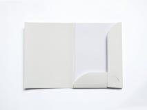 Blank opened folder  on white Royalty Free Stock Photo