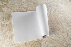 Blank opened magazine Stock Photography
