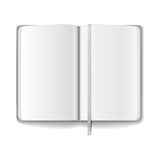 Blank opened magazine template Stock Image