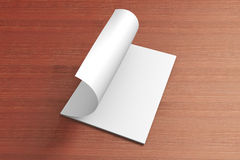 Blank opened Magazine on the wooden Background. For your design Royalty Free Stock Photos