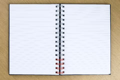 Blank opened notebook on the table Royalty Free Stock Photos