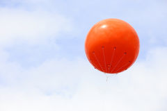 A blank orange balloon with space for text Royalty Free Stock Photos