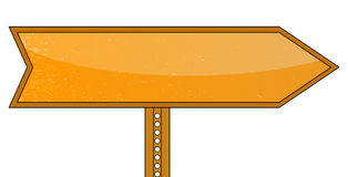 Blank Orange Road Sign Royalty Free Stock Photos