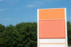 Blank orange sign Royalty Free Stock Photo