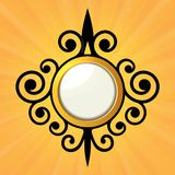 Blank Orange Sticker with Curled Border. Vector Royalty Free Stock Images
