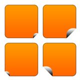 Blank orange stickers or labels Royalty Free Stock Image