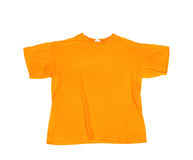 Blank orange T-shirt Royalty Free Stock Photos