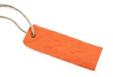 Blank orange tag Royalty Free Stock Images