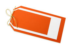 Blank orange tag Stock Photos