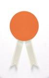 Blank orange tag Stock Images