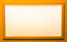 Blank orange tv screen. Stock Photo