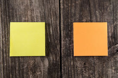 Blank Orange & Yellow Sticky Note Post It Royalty Free Stock Image