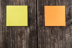 Blank Orange & Yellow Sticky Note Post It Royalty Free Stock Photography