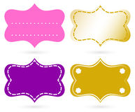 Blank ornamental tags set. Ornamental tags or banners. Vector Illustration Stock Photography