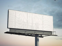 Blank outdoor advertising billboard. 3d rendering. Blank outdoor advertising billboard against cloudy sky. 3d rendering Royalty Free Stock Image