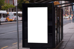 Blank outdoor advertising bus shelter Royalty Free Stock Photography