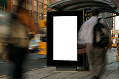 Blank outdoor advertising bus shelter Royalty Free Stock Photos