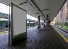 Blank outdoor advertising display placard. Stock Images