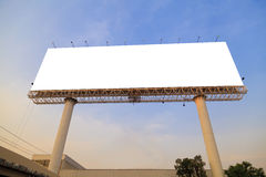 Blank outdoor billboard Royalty Free Stock Photography