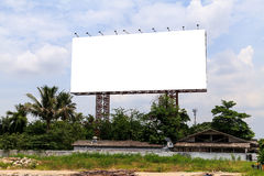 Blank outdoor billboard Royalty Free Stock Images