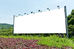 Blank outdoor billboard Stock Image